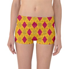Plaid pattern Reversible Bikini Bottoms