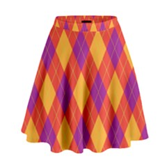 Plaid pattern High Waist Skirt