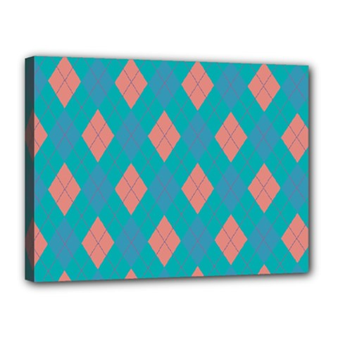 Plaid pattern Canvas 16  x 12