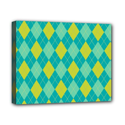 Plaid pattern Canvas 10  x 8