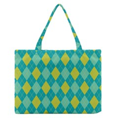 Plaid pattern Medium Zipper Tote Bag