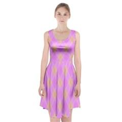 Plaid pattern Racerback Midi Dress
