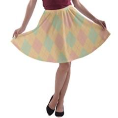 Plaid pattern A-line Skater Skirt