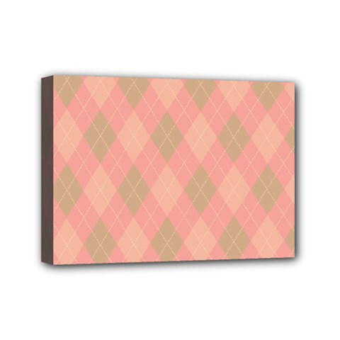 Plaid pattern Mini Canvas 7  x 5