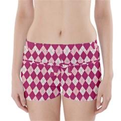 Plaid pattern Boyleg Bikini Wrap Bottoms