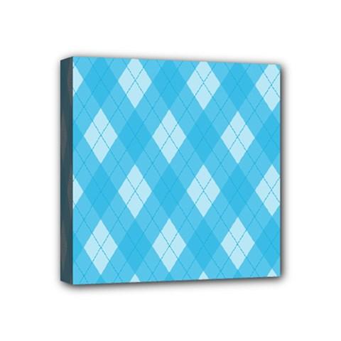 Plaid pattern Mini Canvas 4  x 4