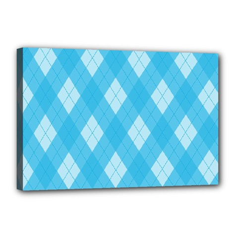 Plaid pattern Canvas 18  x 12