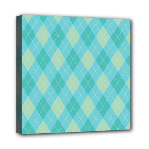 Plaid pattern Mini Canvas 8  x 8