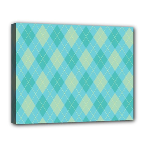Plaid pattern Canvas 14  x 11