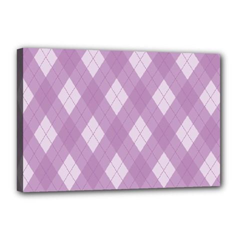 Plaid pattern Canvas 18  x 12
