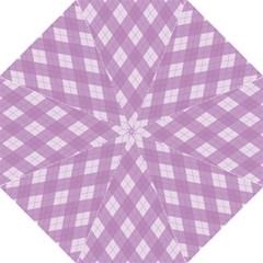 Plaid pattern Hook Handle Umbrellas (Medium)