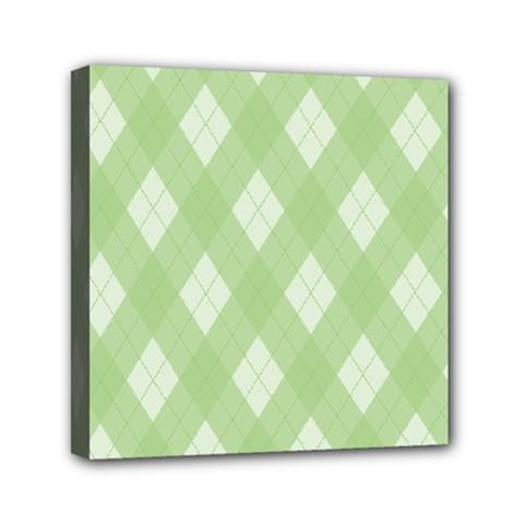Plaid pattern Mini Canvas 6  x 6