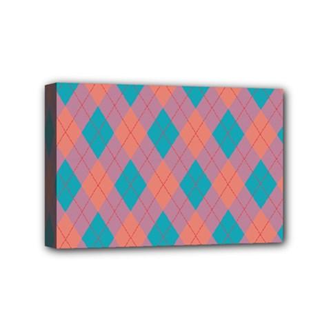 Plaid pattern Mini Canvas 6  x 4