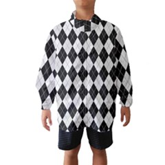 Plaid pattern Wind Breaker (Kids)