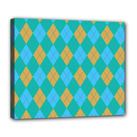 Plaid pattern Deluxe Canvas 24  x 20
