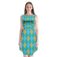 Plaid pattern Sleeveless Chiffon Dress