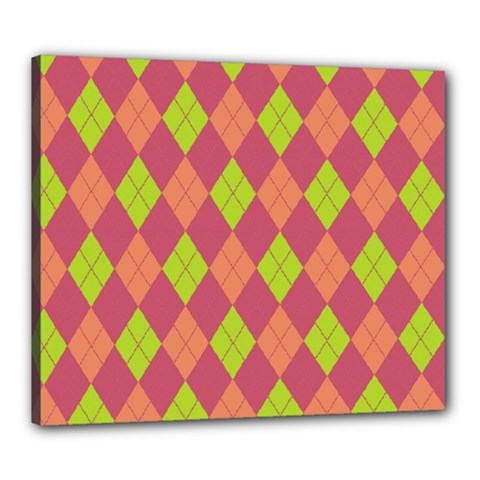 Plaid pattern Canvas 24  x 20