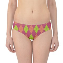 Plaid pattern Hipster Bikini Bottoms