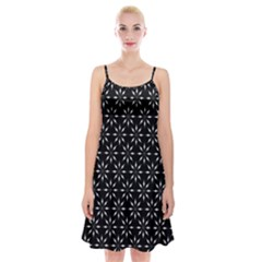 Pattern Spaghetti Strap Velvet Dress