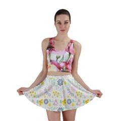 Vintage Spring Flower Pattern  Mini Skirt
