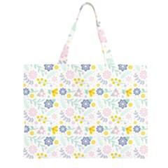 Vintage Spring Flower Pattern  Large Tote Bag