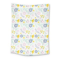 Vintage Spring Flower Pattern  Medium Tapestry