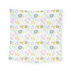 Vintage Spring Flower Pattern  Square Tapestry (small)