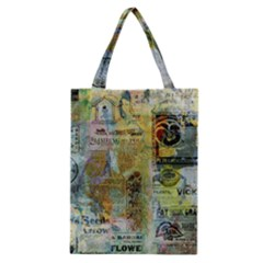 Old Newspaper And Gold Acryl Painting Collage Classic Tote Bag