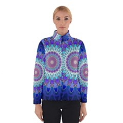 Power Flower Mandala   Blue Cyan Violet Winterwear
