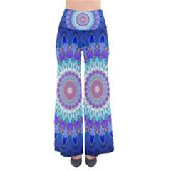 Power Flower Mandala   Blue Cyan Violet Pants