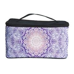 India Mehndi Style Mandala   Cyan Lilac Cosmetic Storage Case