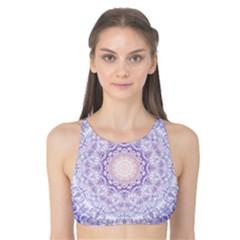 India Mehndi Style Mandala   Cyan Lilac Tank Bikini Top