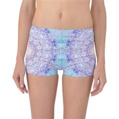 India Mehndi Style Mandala   Cyan Lilac Reversible Bikini Bottoms