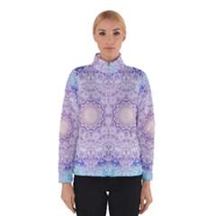 India Mehndi Style Mandala   Cyan Lilac Winterwear