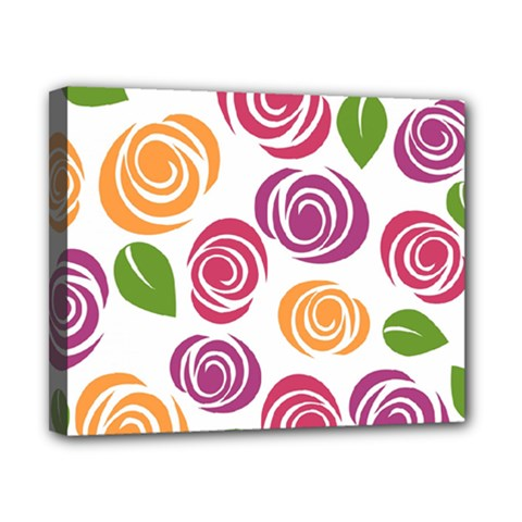 Colorful Seamless Floral Flowers Pattern Wallpaper Background Canvas 10  X 8