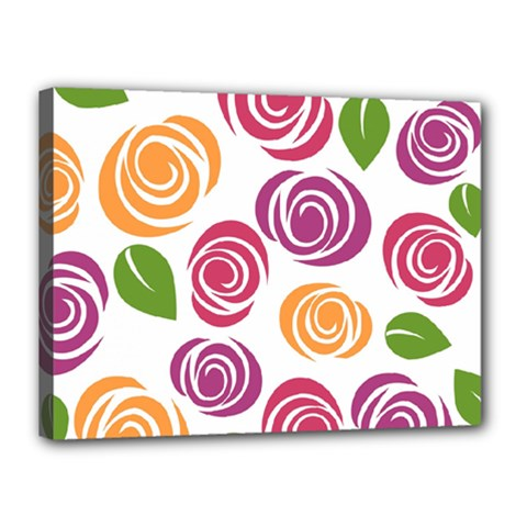 Colorful Seamless Floral Flowers Pattern Wallpaper Background Canvas 16  X 12