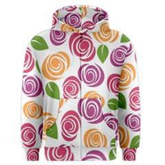 Colorful Seamless Floral Flowers Pattern Wallpaper Background Men s Zipper Hoodie
