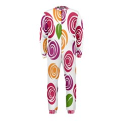 Colorful Seamless Floral Flowers Pattern Wallpaper Background OnePiece Jumpsuit (Kids)