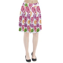 Colorful Seamless Floral Flowers Pattern Wallpaper Background Pleated Skirt