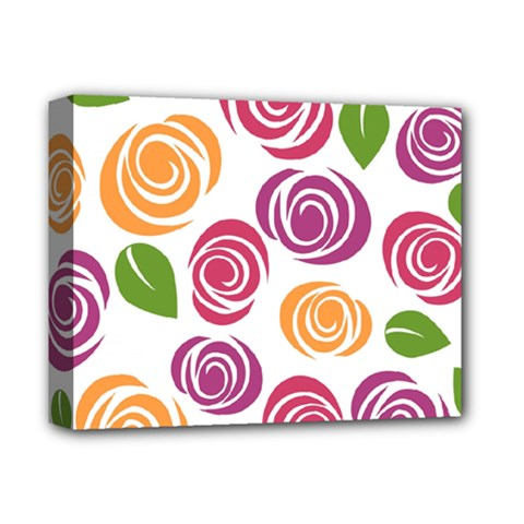Colorful Seamless Floral Flowers Pattern Wallpaper Background Deluxe Canvas 14  X 11