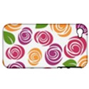 Colorful Seamless Floral Flowers Pattern Wallpaper Background Apple iPhone 4/4S Hardshell Case (PC+Silicone) View1