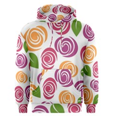 Colorful Seamless Floral Flowers Pattern Wallpaper Background Men s Pullover Hoodie