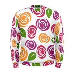 Colorful Seamless Floral Flowers Pattern Wallpaper Background Men s Sweatshirt