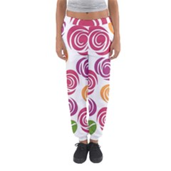 Colorful Seamless Floral Flowers Pattern Wallpaper Background Women s Jogger Sweatpants