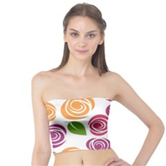 Colorful Seamless Floral Flowers Pattern Wallpaper Background Tube Top