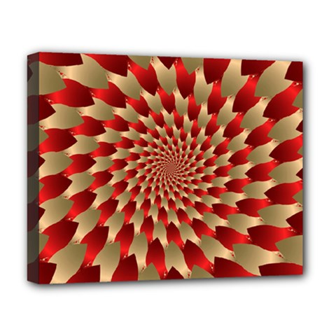 Fractal Red Petal Spiral Deluxe Canvas 20  X 16
