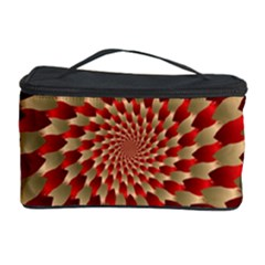 Fractal Red Petal Spiral Cosmetic Storage Case