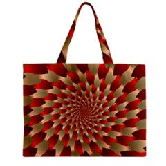 Fractal Red Petal Spiral Zipper Mini Tote Bag
