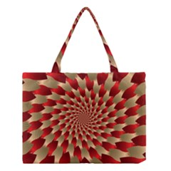 Fractal Red Petal Spiral Medium Tote Bag