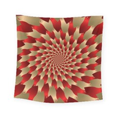 Fractal Red Petal Spiral Square Tapestry (small)